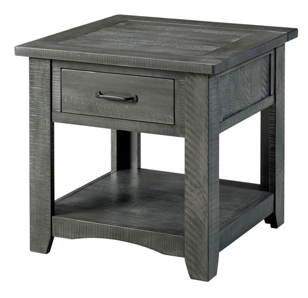 Martin Svensson Rustic Grey Pine End Table SBG-890139