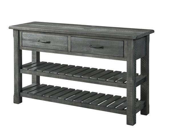 Martin Svensson Barn Door Grey Farmhouse Console Table SBG-890249