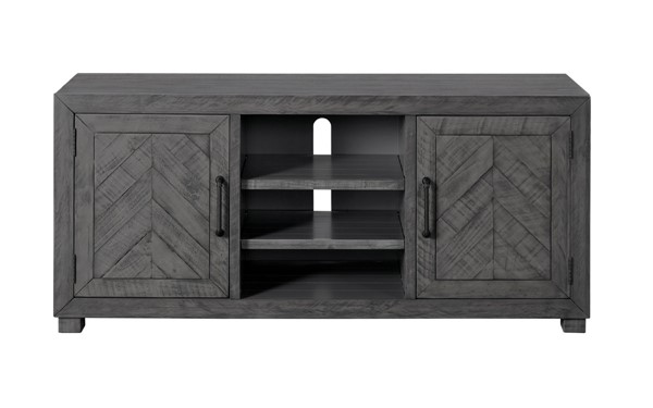 Martin Svensson Huntington Grey Pine MDF Metal TV Stand SBG-909149