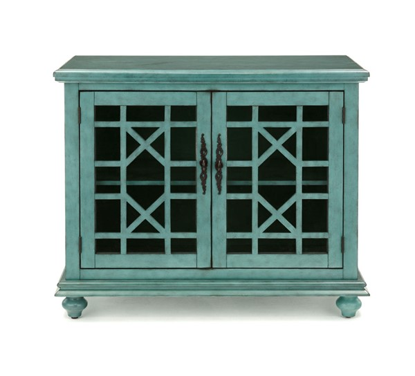 Martin Svensson Elegant Teal MDF Pine Glass Small Spaces TV Stands SBG-9103-TS-VAR