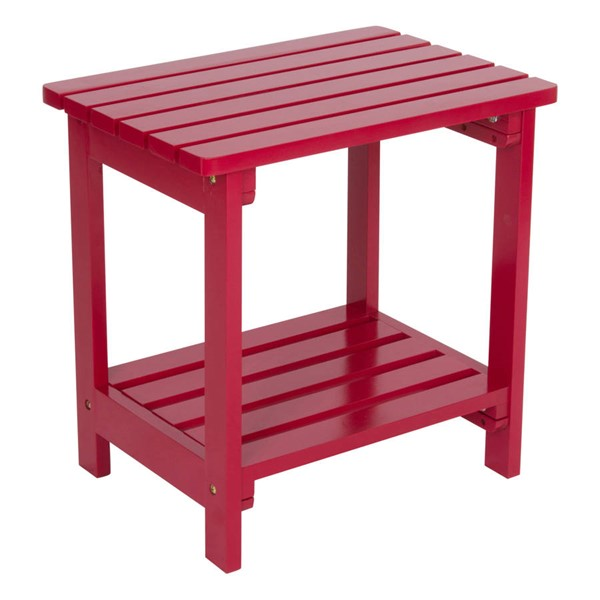 Shine Chili Pepper Cedarwood Rectangular Side Table SHN-4104CP