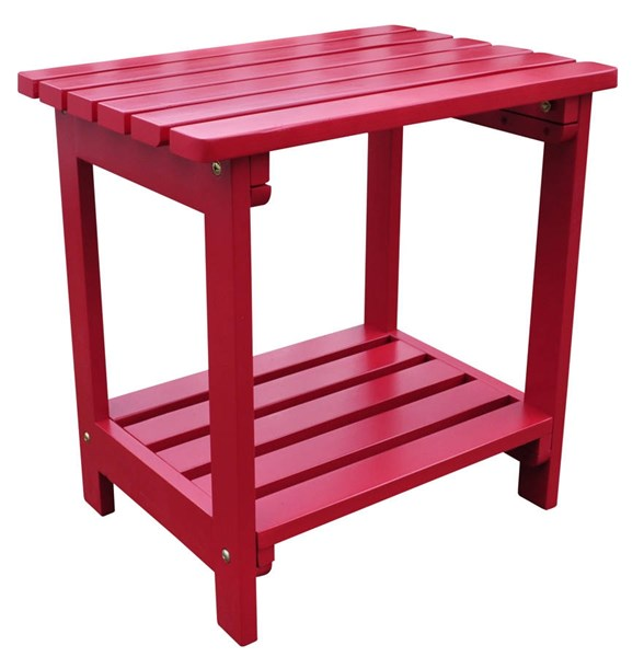 Classic Chili Pepper Cedarwood Rectangular Outdoor Side Table SHN-4104CP