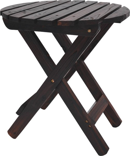 Shine Burnt Brown Adirondack Round Folding Table SHN-4108BB