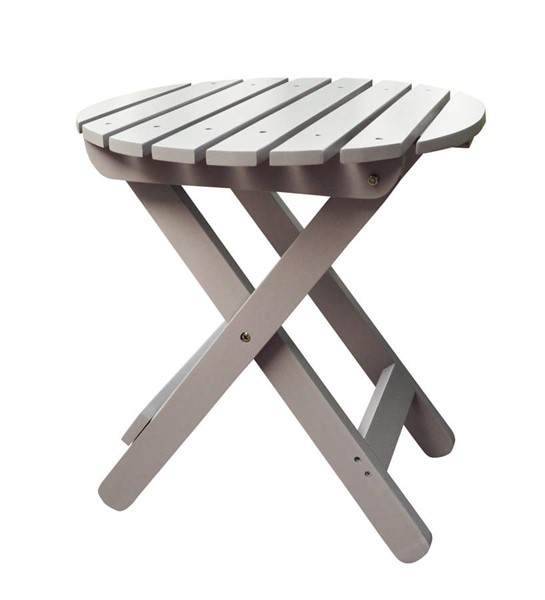 Shine Taupe Gray Adirondack Round Folding Table SHN-4108TG
