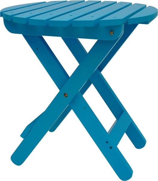 Classic Turquoise Cedarwood Adirondack Round Outdoor Folding Table SHN-4108TQ
