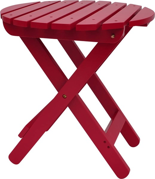 Classic Tomato Red Cedarwood Adirondack Round Outdoor Folding Table SHN-4108TR