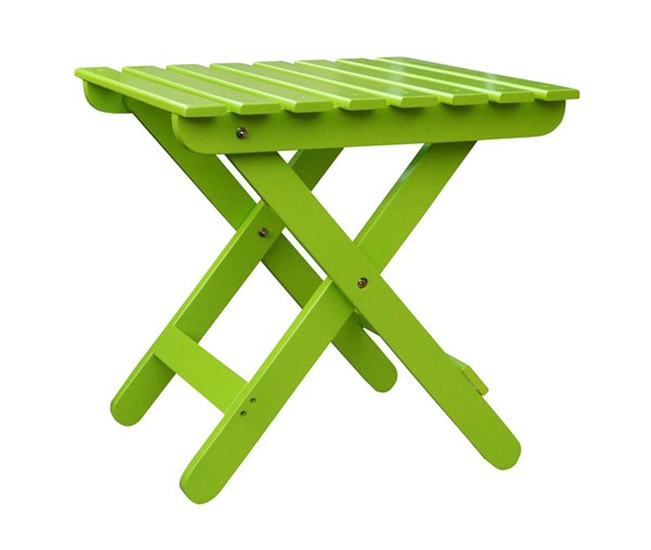 Classic Lime Green Cedarwood Adirondack Square Outdoor Folding Table SHN-4109LG