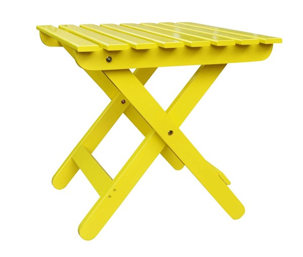 Shine Lemon Yellow Adirondack Square Folding Table SHN-4109LY