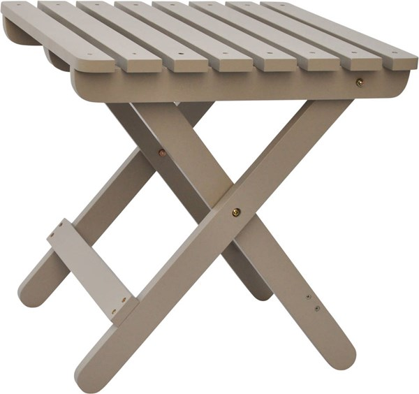 Shine Taupe Gray Adirondack Square Folding Table SHN-4109TG