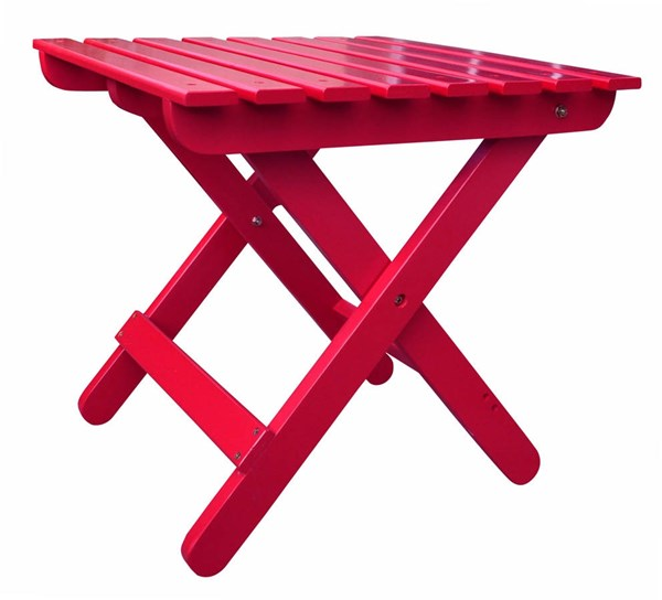 Classic Tomato Red Cedarwood Adirondack Square Outdoor Folding Table SHN-4109TR