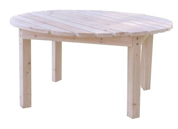 Classic Natural White Cedarwood 38 Inch Round Outdoor Chat Tables SHN-4138-CST-CT-VAR