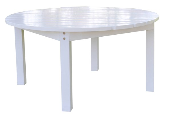 Classic White Cedarwood 38 Inch Round Outdoor Chat Table SHN-4138WT
