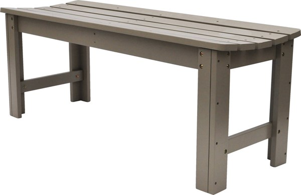 Taupe Gray Cedarwood 48 Inch Backless Outdoor Garden Bench SHN-4204TG