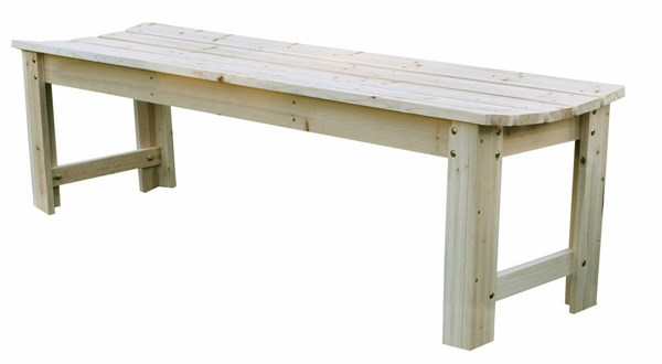 Cedarwood 60 Inch Backless Outdoor Garden Benches SHN-4205-OS-BNCH-VAR