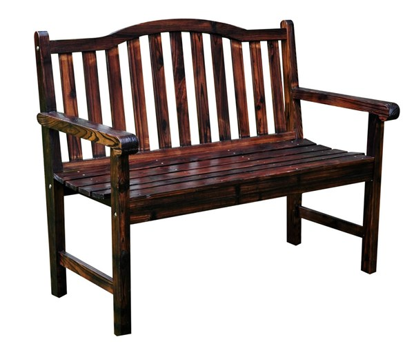 Shine Belfort Burnt Brown 43.25 Inch Garden Bench SHN-4212BB