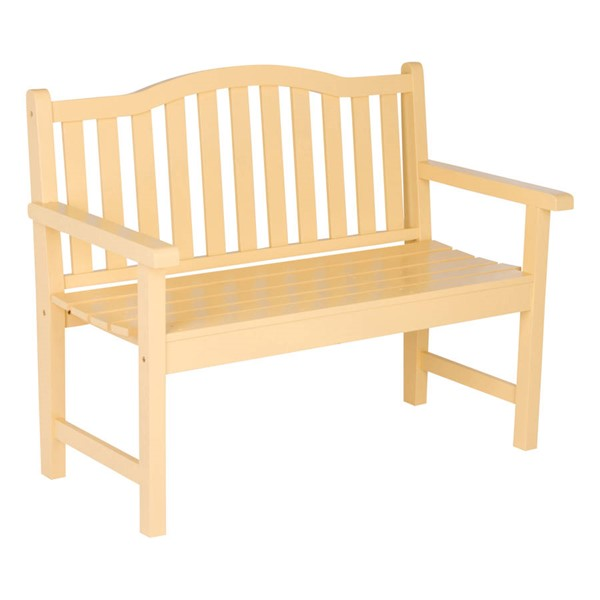 Shine Belfort Gold Yellow 43.25 Inch Garden Bench SHN-4212BW