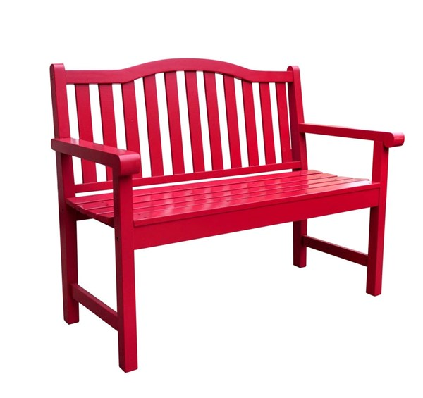 Belfort Chili Pepper Cedarwood 43.25 Inch Outdoor Garden Bench SHN-4212CP
