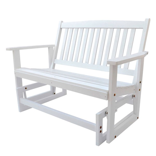 Shine White 46 Inch Torrey Outdoor Glider Loveseat SHN-4215WT