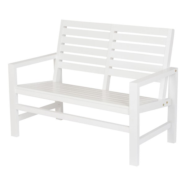 Shine White Contemporary Garden Bench SHN-4224WT