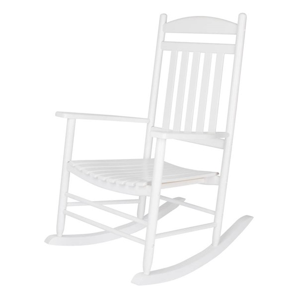 Shine Maine White Hardwood Porch Rocker SHN-4331WT