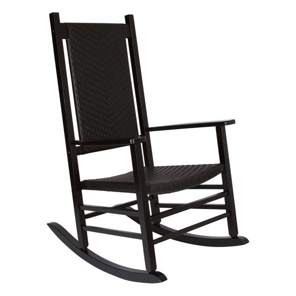 Shine Hampton Black Hardwood Porch Rocker SHN-4335BK