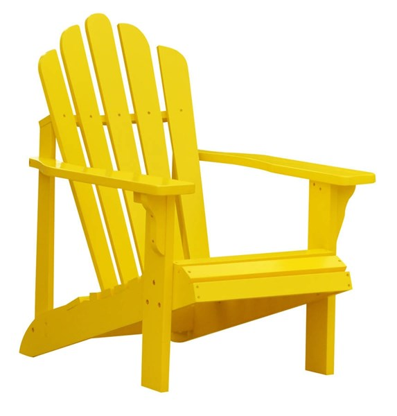Westport Traditional Lemon Yellow Cedarwood Adirondack Outdoor Chair SHN-4611LY