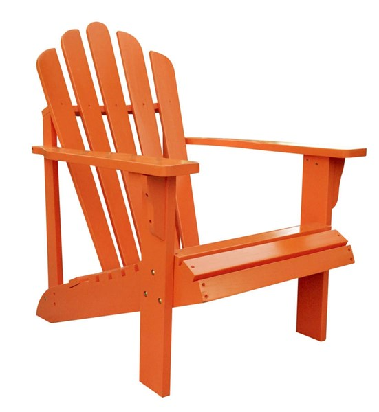 Westport Traditional Tangerine Cedarwood Adirondack Outdoor Chair SHN-4611TA