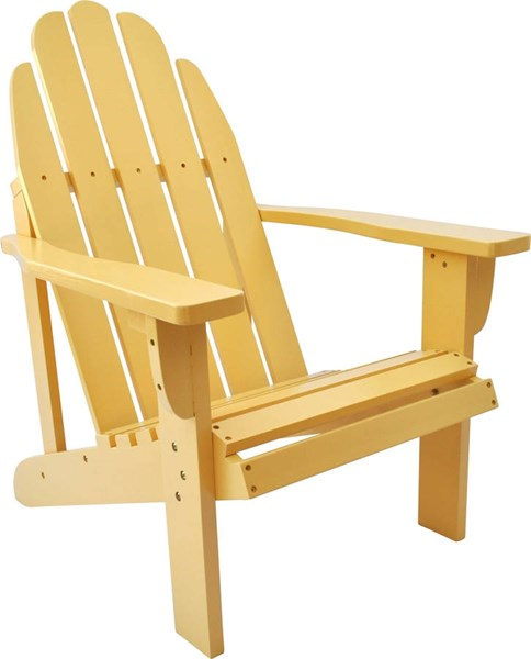 Catalina Traditional Gold Yellow Cedarwood Adirondack Outdoor Chair SHN-4613BW