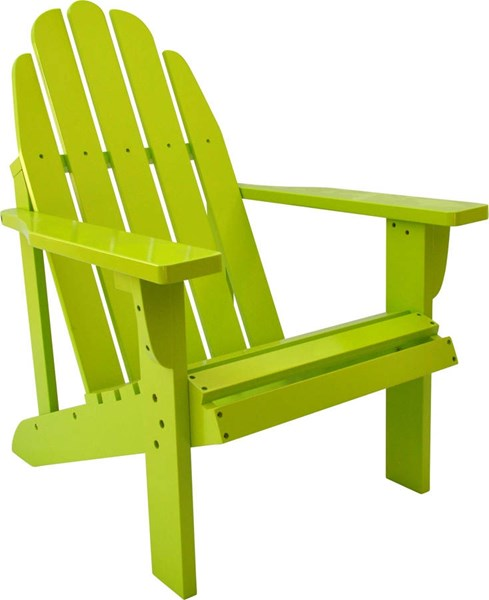 Catalina Traditional Lime Green Cedarwood Adirondack Outdoor Chair SHN-4613LG
