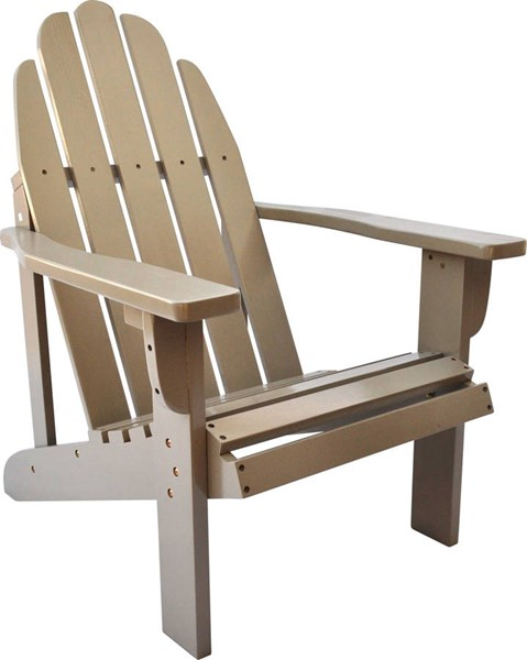 Catalina Traditional Taupe Gray Cedarwood Adirondack Outdoor Chair SHN-4613TG