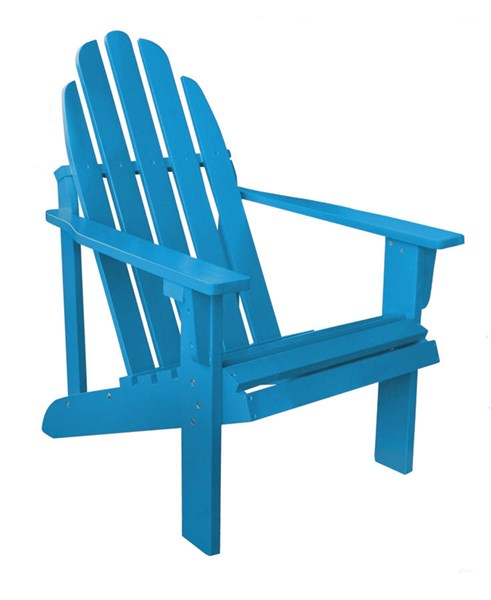 Catalina Traditional Turquoise Cedarwood Adirondack Outdoor Chair SHN-4613TQ