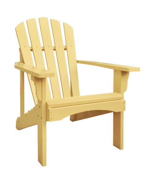 Rockport Gold Yellow Cedarwood Adirondack Outdoor Chair SHN-4617BW