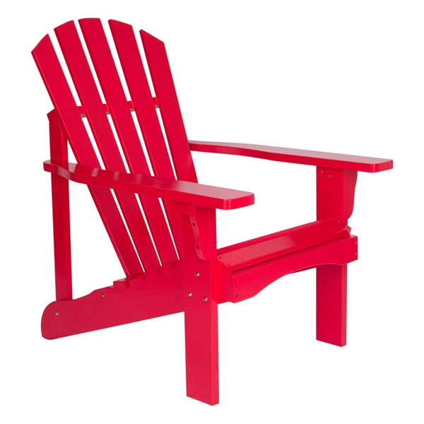 Shine Rockport Tomato Red Cedarwood Adirondack Chair SHN-4617TR