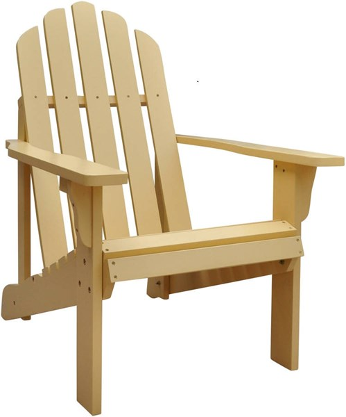 Marina Gold Yellow Cedarwood Adirondack Outdoor Chair SHN-4618BW