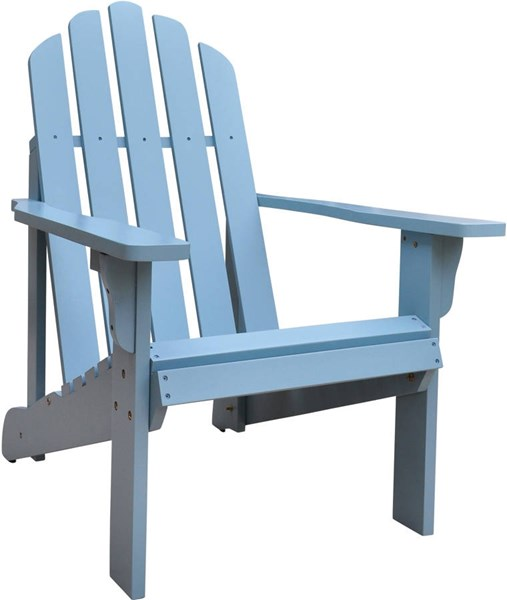 Marina Dutch Blue Cedarwood Adirondack Outdoor Chair SHN-4618DB