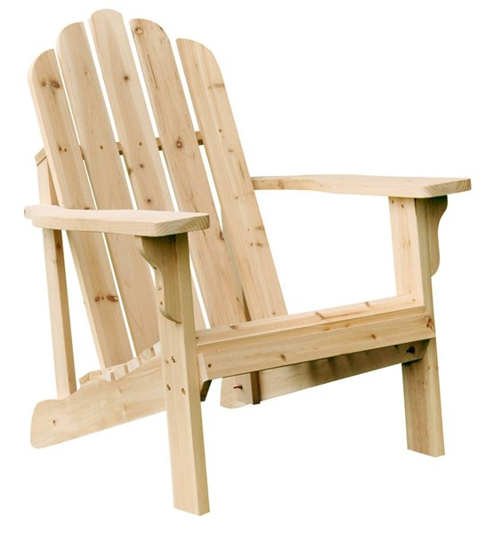 Marina Natural Cedarwood Adirondack Outdoor Chair SHN-4618N