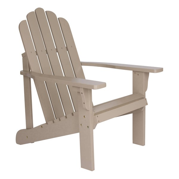 Shine Marina Taupe Gray Cedarwood Adirondack Chair SHN-4618TG