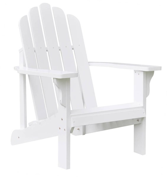 Shine Marina White Cedarwood Adirondack Chair SHN-4618WT