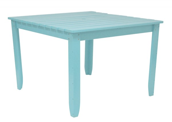 Coastal Blue Cedarwood 42 Inch Square Outdoor Dining Table SHN-4649CB
