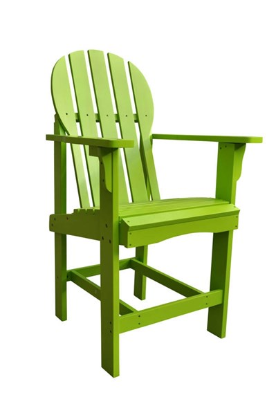 Captiva Traditional Lime Green Cedarwood Outdoor Counter High Chair SHN-4675LG