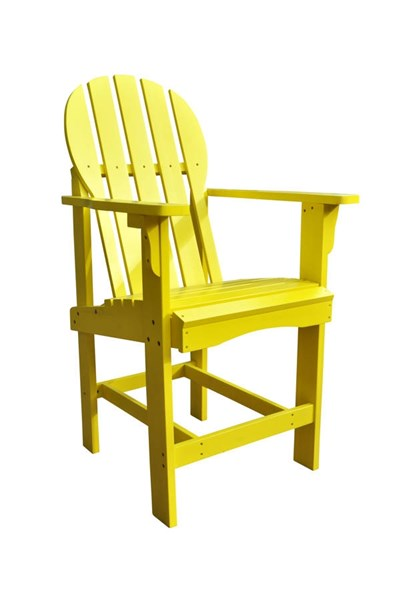 Captiva Traditional Lemon Yellow Cedarwood Outdoor Counter High Chair SHN-4675LY