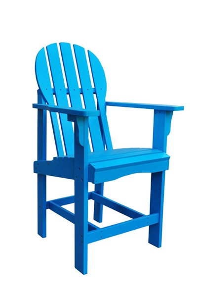 Captiva Traditional Turquoise Cedarwood Outdoor Counter High Chair SHN-4675TQ