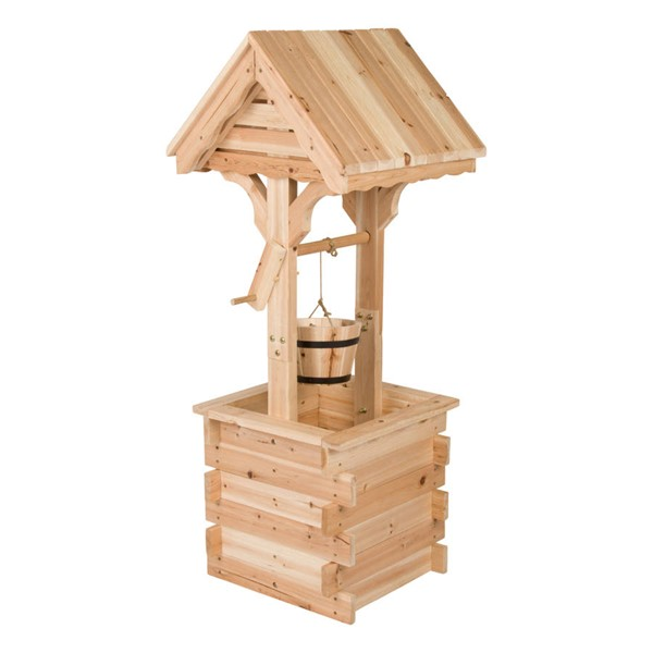 Shine Natural Cedarwood Decorative Wishing Well SHN-4986N
