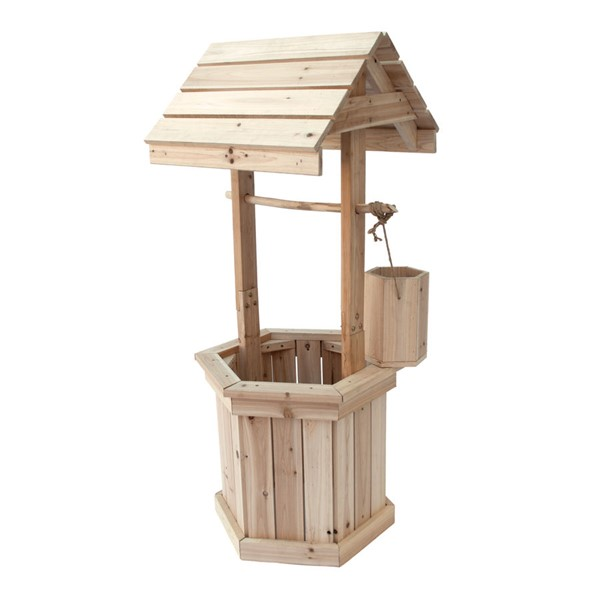 Shine Natural Decorative 55 Inch Wishing Well SHN-4987N