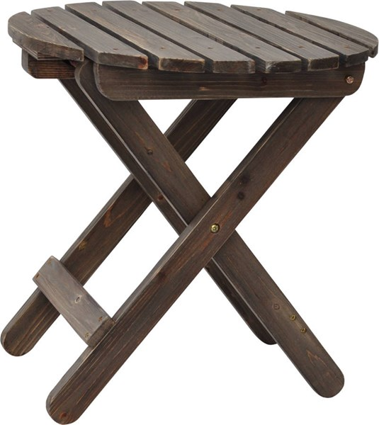 Rustic Barnwood Cedarwood Round Outdoor Folding Table SHN-5108BA