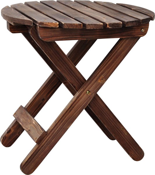 Rustic Wine Cedarwood Round Outdoor Folding Table SHN-5108RW