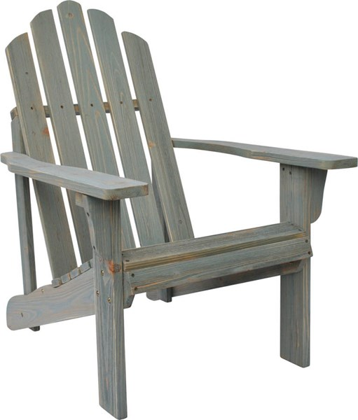 Rustic Dutch Blue Cedarwood Adirondack Outdoor Chair SHN-5618DB