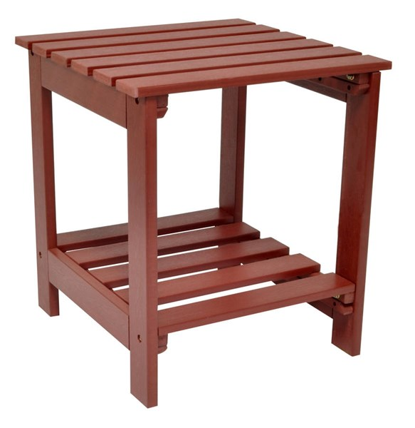 Mahogany Synthetic Wood Square Outdoor Side Table SHN-7108MA