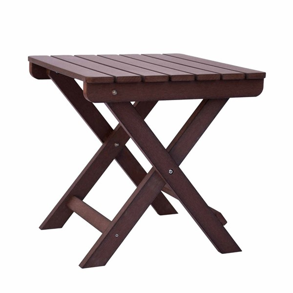 Shine Adirondack Chateau Brown Square Folding Table SHN-7109CB
