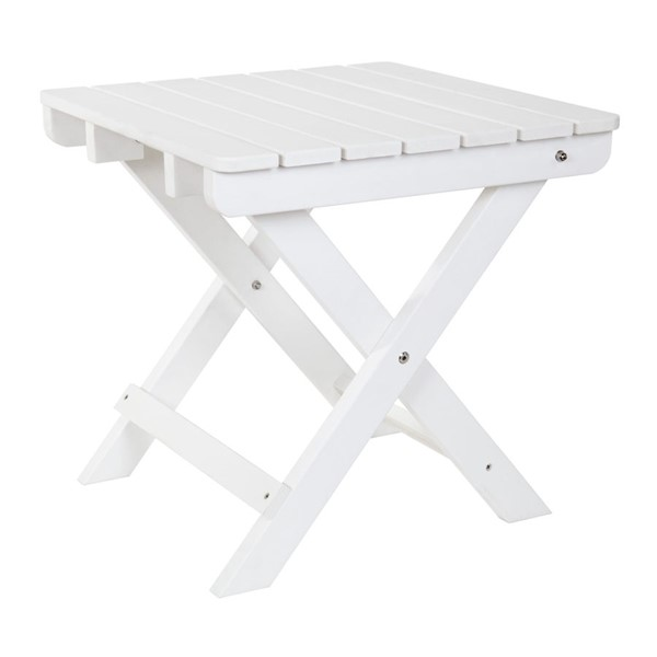 Shine Adirondack White Square Folding Table SHN-7109WT